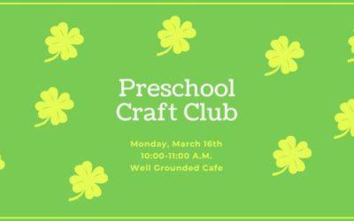 Preschool Craft Club 03-16